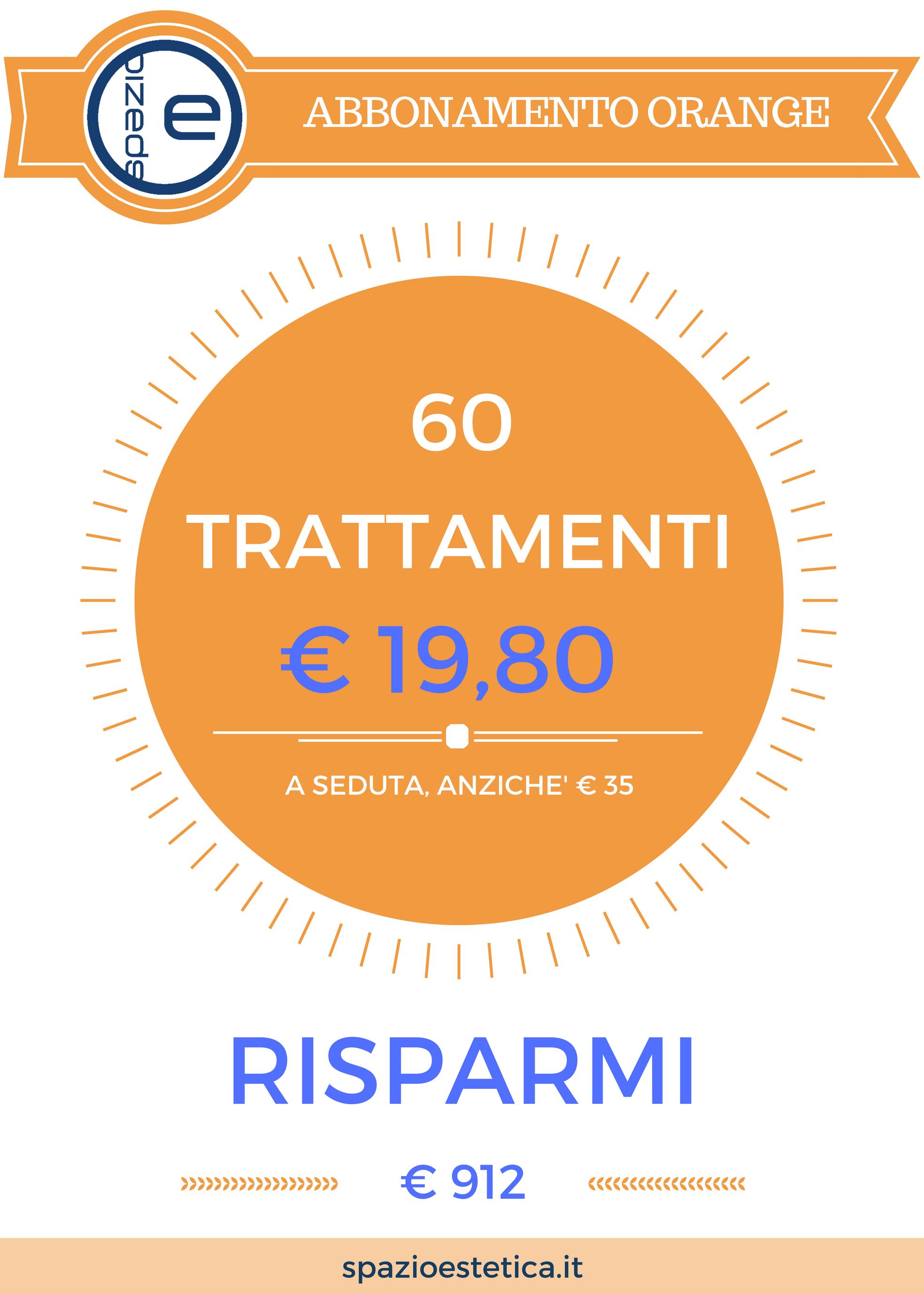 60 trattamenti estetici a 19,80 euro cadauno con i migliori macchinari made in italy